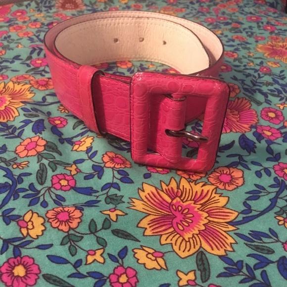 2c58d5066a vintage Yves Saint Laurent pink embossed belt